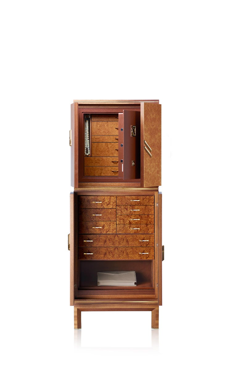 For Sale: Brown (Briar Wood) Agresti Magia Basic Jewelry Armoire 4