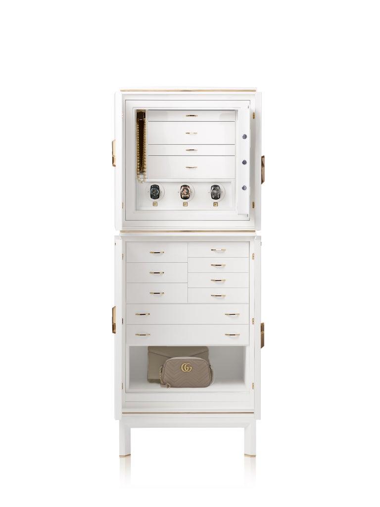 For Sale: White (White Bird's Eye Maple) Agresti Magia Winder Jewelry Armoire 2