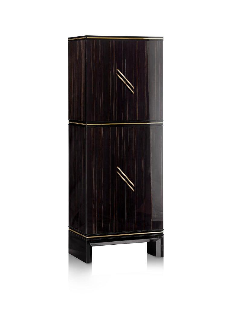 For Sale: Black (Ebony) Agresti Magia Winder Jewelry Armoire 2