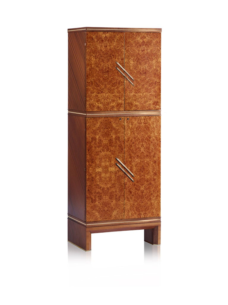 For Sale: Brown (Briar Wood) Agresti Magia Double Jewelry Armoire 3