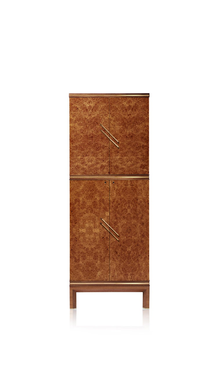 For Sale: Brown (Briar Wood) Agresti Magia Double Jewelry Armoire 2