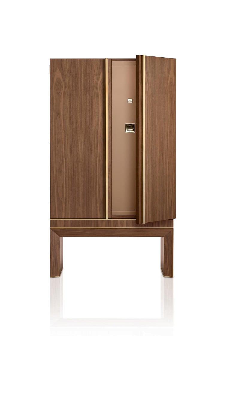 For Sale: Brown (Walnut) Agresti Lei Lui Armoire with Safe 2