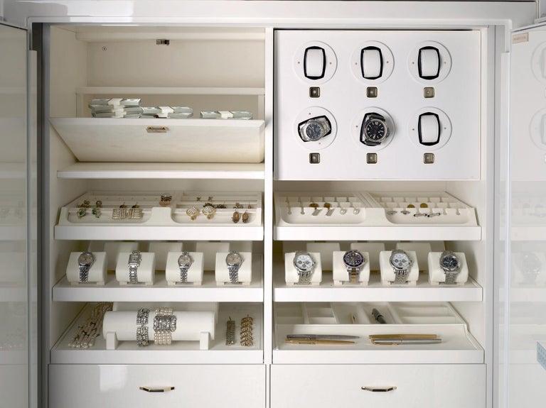 For Sale: White (White Bird's Eye Maple) Agresti Lei Lui Armoire with Safe 4