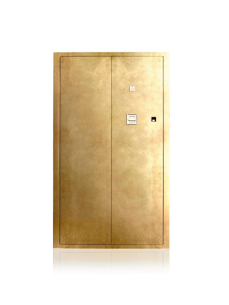 For Sale: Gold (Gold Leaf) Agresti Grande Segreto Armored Jewelry Case