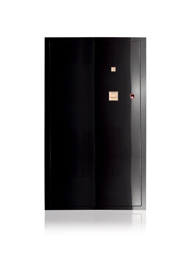For Sale: Black (Hammered Black Steel) Agresti Grande Segreto Armored Jewelry Case
