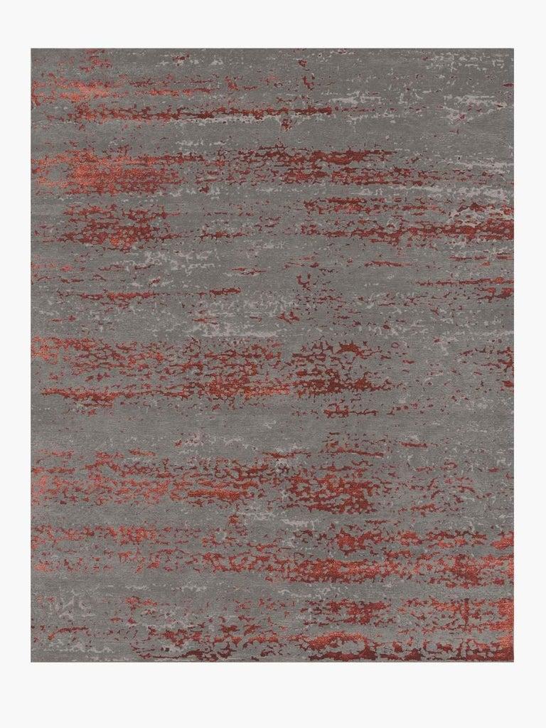 For Sale: Multi (Laria Carbon/Amber) Ben Soleimani Laria Rug– Handcrafted Wool + Silk Fog 6'x9'