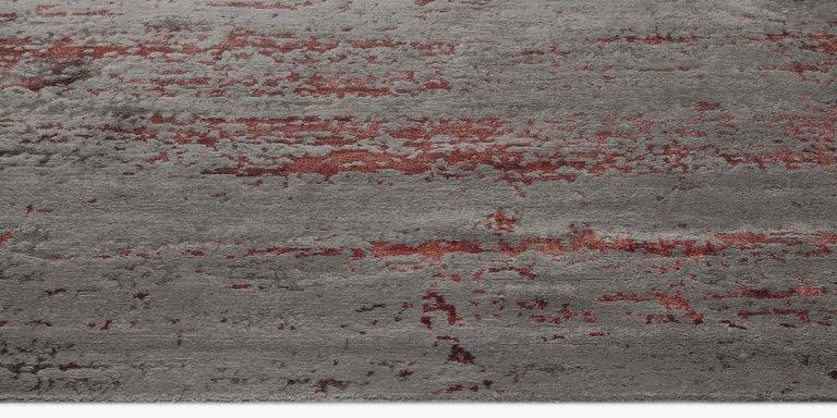 For Sale: Multi (Laria Carbon/Amber) Ben Soleimani Laria Rug– Handcrafted Wool + Silk Fog 6'x9' 3