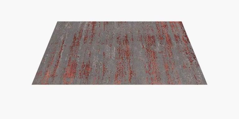 For Sale: Multi (Laria Carbon/Amber) Ben Soleimani Laria Rug– Handcrafted Wool + Silk Fog 12'x15' 2