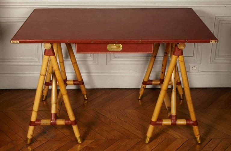 French 1950s Desk by Jacques Adnet For Sale