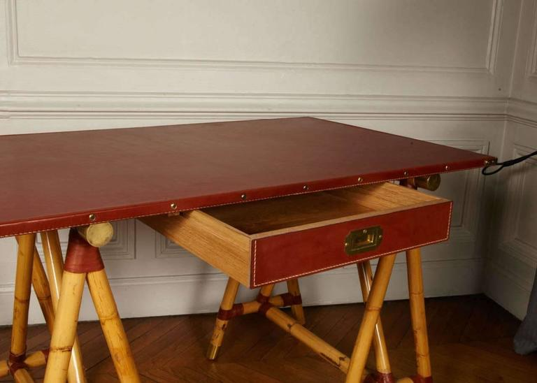 Mid-20th Century 1950s Desk by Jacques Adnet For Sale