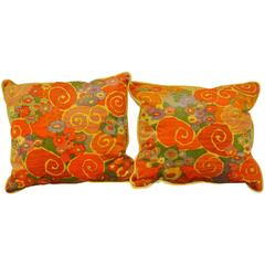 Vintage 1970s Jack Lenor Larsen Fabric Pillows