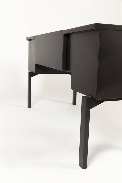 Black Lacquered Campaign Desk For Viyet Designer Furniture Tables Hickory Chair Asheworth