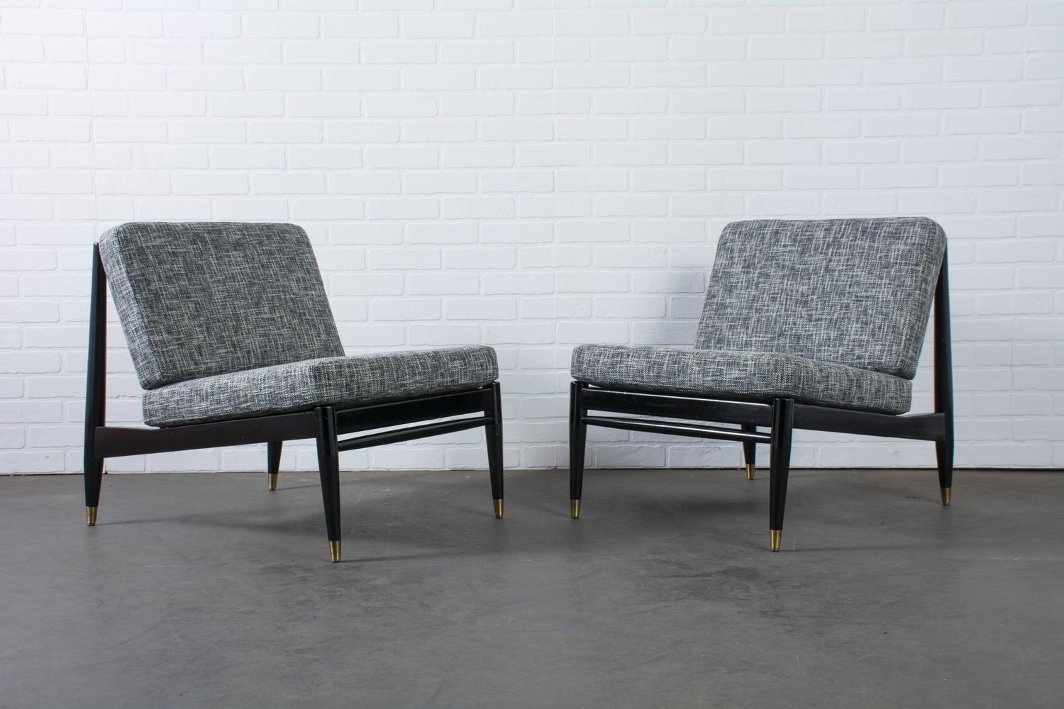 Pair of mid century modern lounge chairs at 1stdibs for Mid century furniture san francisco