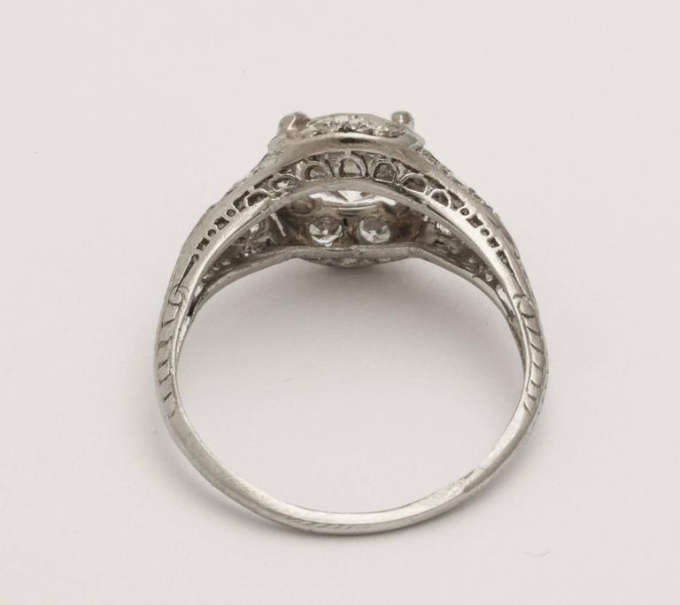 Antique Diamond Platinum Engagement Ring 3