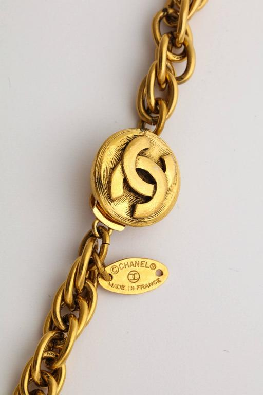 Chanel Gold Nuggets Necklace with Embedded Crystals 5
