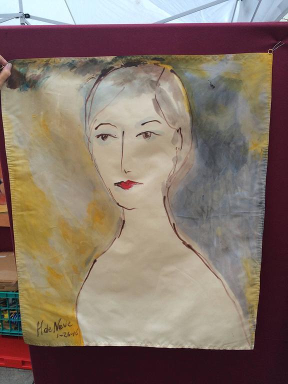 Painting by Hanneke De Neve For Sale