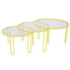 Gigogen Wrought Iron Side Table Set