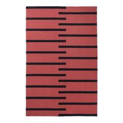 Modern Dhurrie Kilim Rug in Scandinavian Design