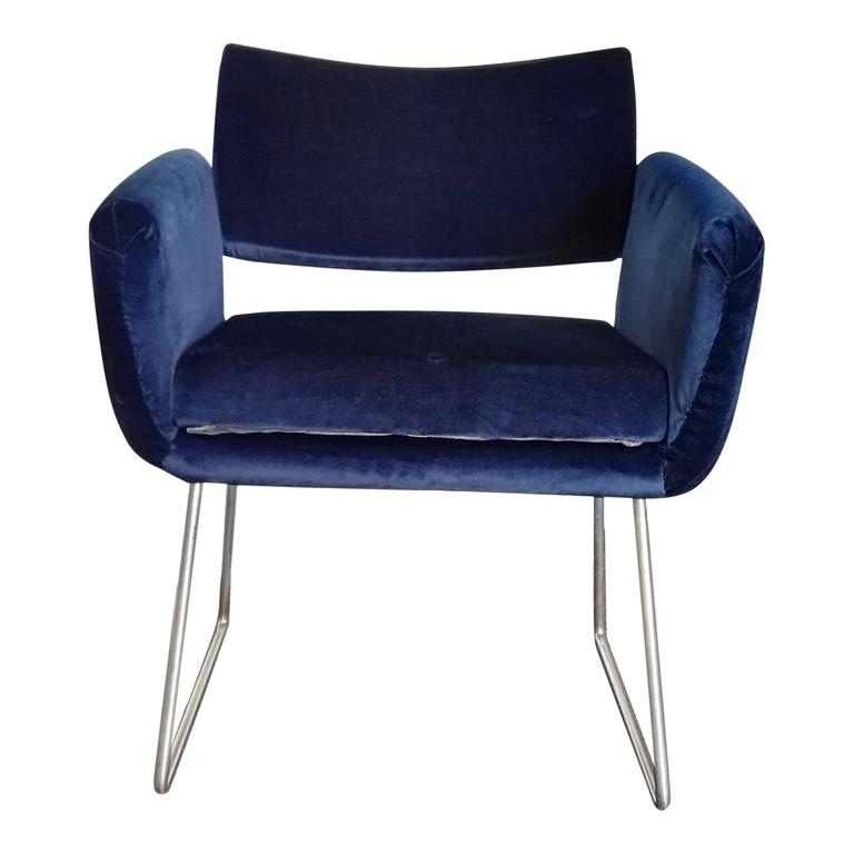 Mid-20th Century Pair of 760 Chairs by Joseph Andre Motte, France, 1957 For Sale