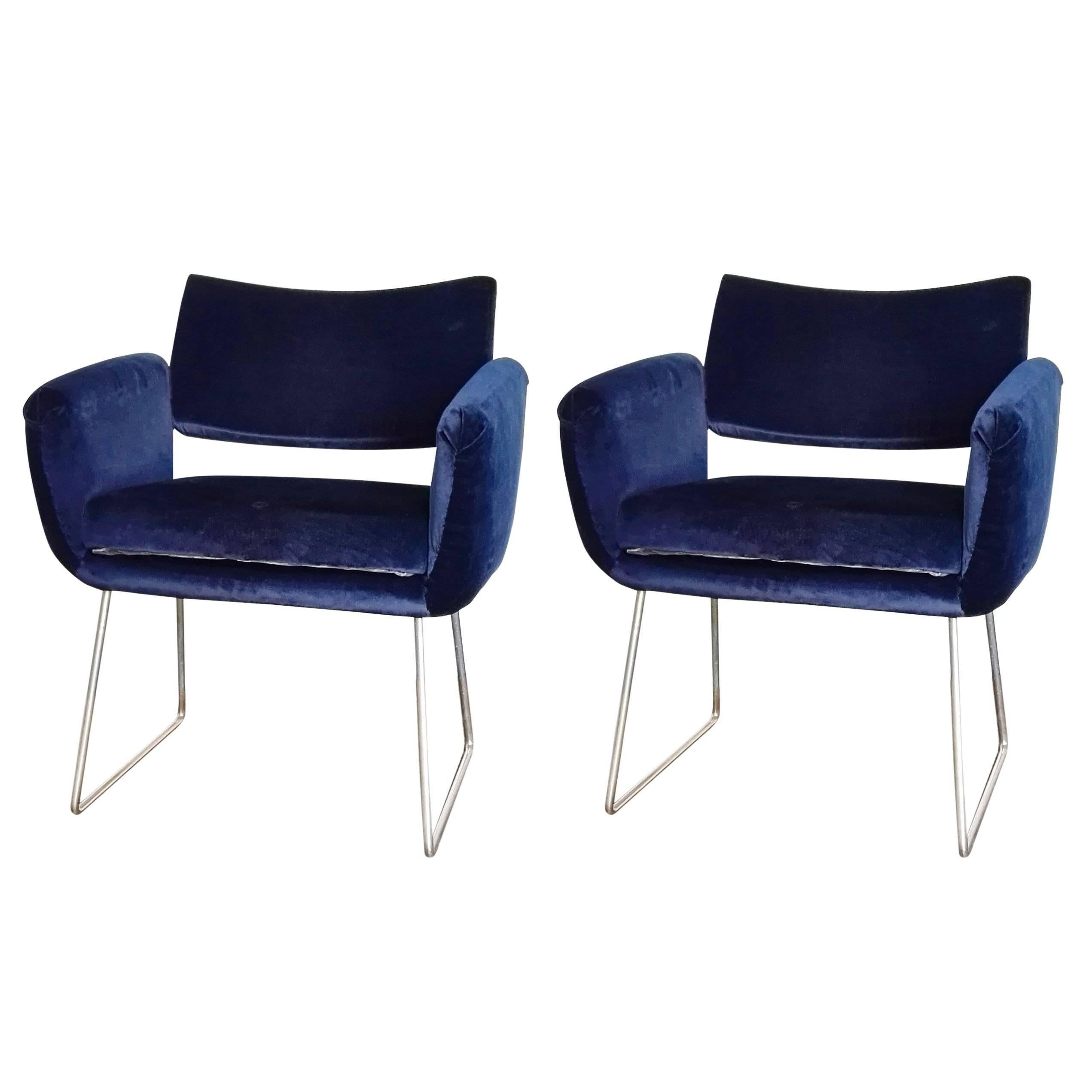 Pair of 760 Chairs by Joseph Andre Motte, France, 1957
