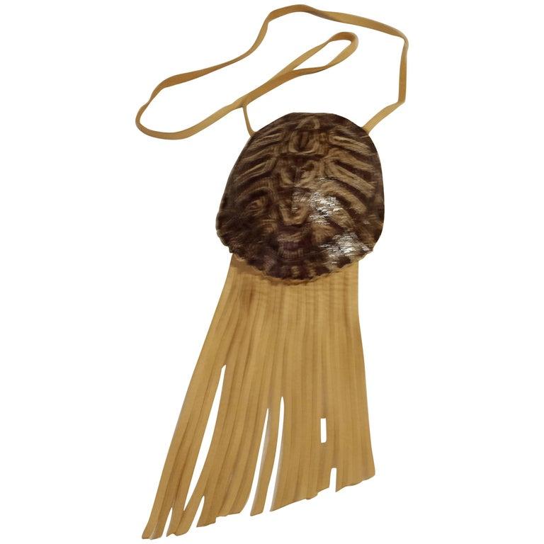 American Indian Genuine Turtle Shell Shoulder Bag  circa 1940s