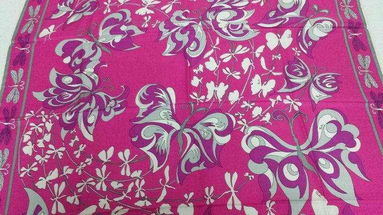 Women's Lucious Emilio Pucci Signature Silk Scarf -Never Worn and in Original Case For Sale