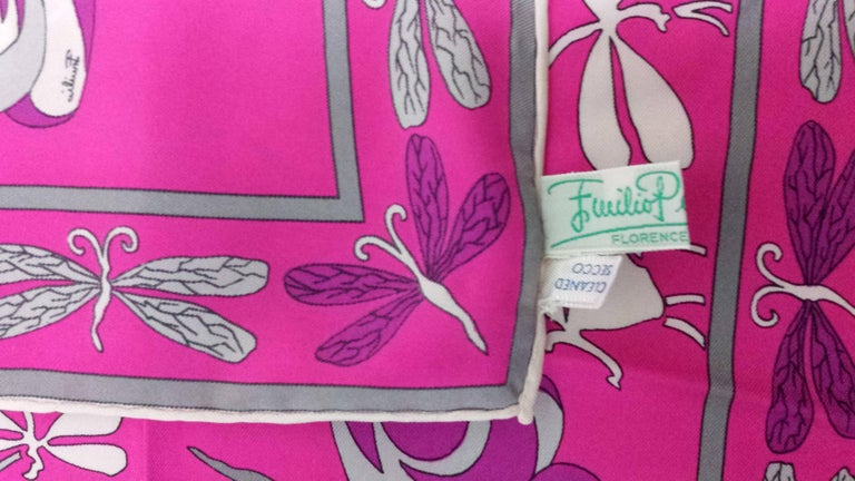 Lucious Emilio Pucci Signature Silk Scarf -Never Worn and in Original Case For Sale 1