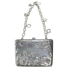 Jugendstil Sterling Silber Handtasche