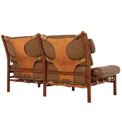 Cognac Buffalo Leather 'Inca' Sofa by Arne Norell