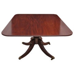 5' English Regency Center Pedestal, Tilt-Top Dining or Breakfast Table, c. 1820