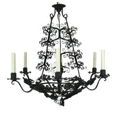 Large Handmade Country French Chandelier