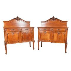 Frédéric Schmit Pair of Antique French Louis XV Style Rococo Revival Buffets