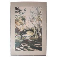 "Robert Dash Painting ""Going to the Beach"""