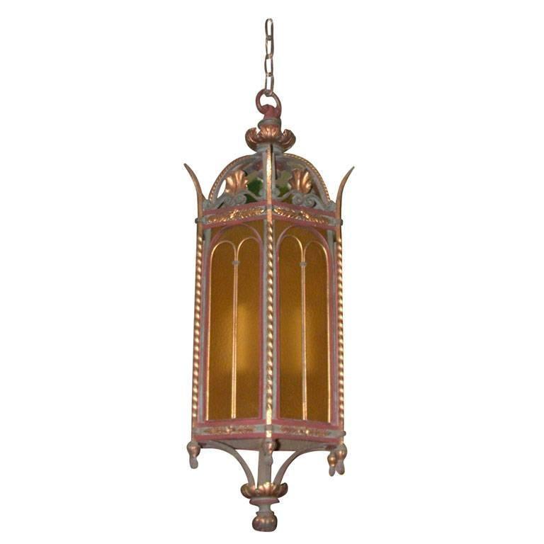Monumental Renaissance Revival Gilt Bronze Hall Lantern
