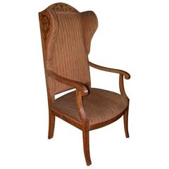 19th Century Biedermeier Wing or Armchair