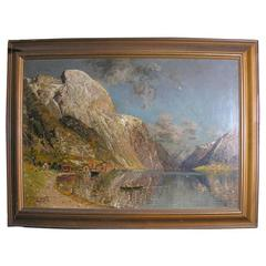 19th Century Oil Painting by Listed Artist J. Holmstedt