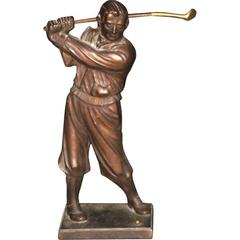 Golfer Fireplace Tool Holder