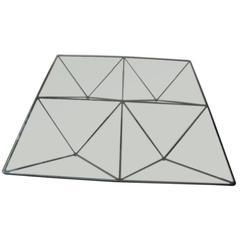 Mid-Century Modern Italian Paolo Piva Metal / Glass Alanda Table