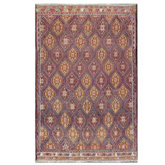 Turkish Embroidered Kilim Rug