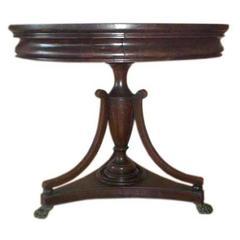 Urn Base Center Table, circa 1910s