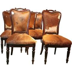 "Italian ""English Makers"" Mahogany Chairs"
