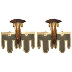 Pair of 19th Century Italian Medieval Style One-Arm Sconces