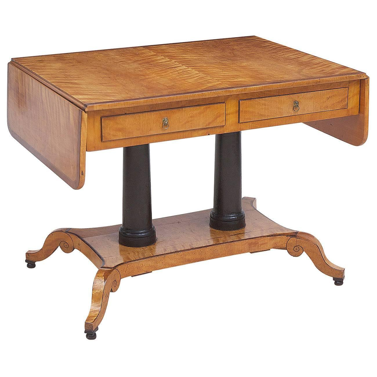 Birch Writing Table From The Estate Of Swedish Architect Alfred Grenander  For Sale At 1stdibs