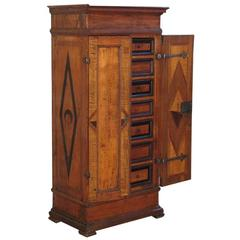 Alpine Baroque 18th century inlaid petit Cabinet
