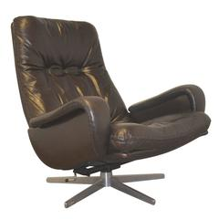 Vintage De Sede S 231 James Bond Swivel Lounge Club Armchair 1960s