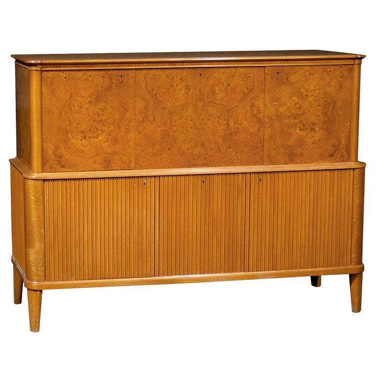 swedish art moderne buffet or credenza in carpathian elm. Black Bedroom Furniture Sets. Home Design Ideas
