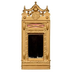 Swedish Victorian Gilded Swag Mirror