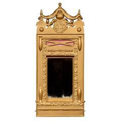 Swedish Victorian Gilded Swag Mirror