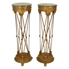 Pair of Neoclassical Style Pedestals