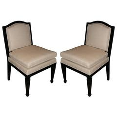 Two 1935 Easy Chairs in the Style of Jean-Michel Frank